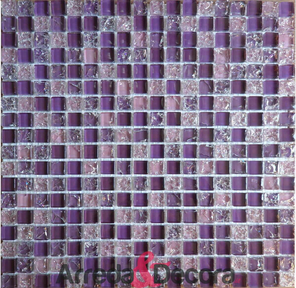 Piastrelle Bagno Mosaico Viola arreda e decora - italia - la ricerca di prodotti unici, dal