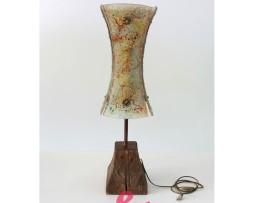 lampada base legno onda