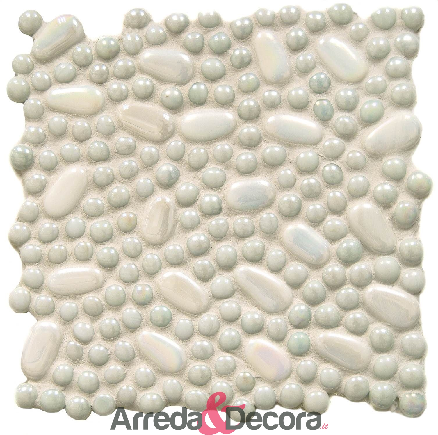 mosaico bolle bianco palladiana