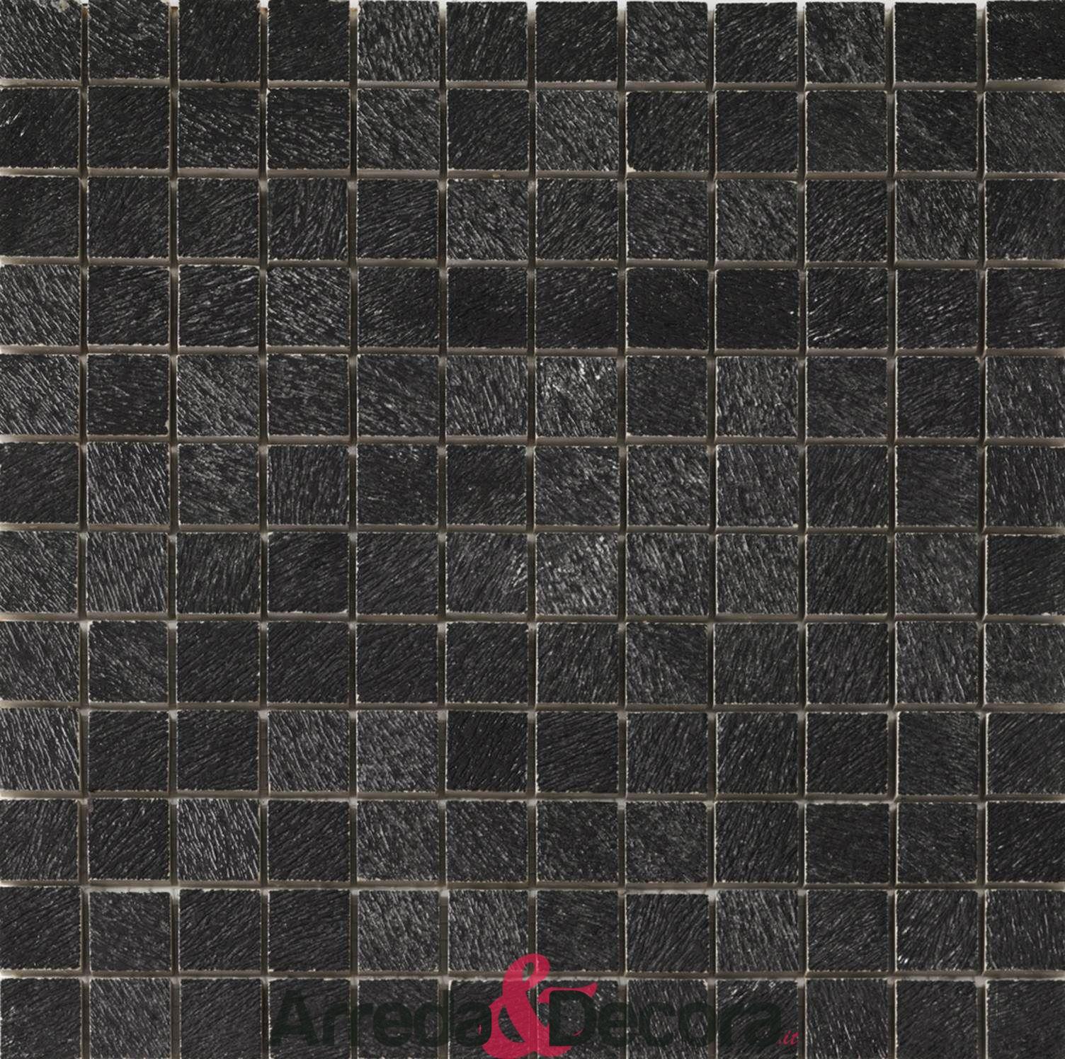 mosaico nero ruvido