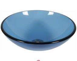 lavabo azzurro in vetro