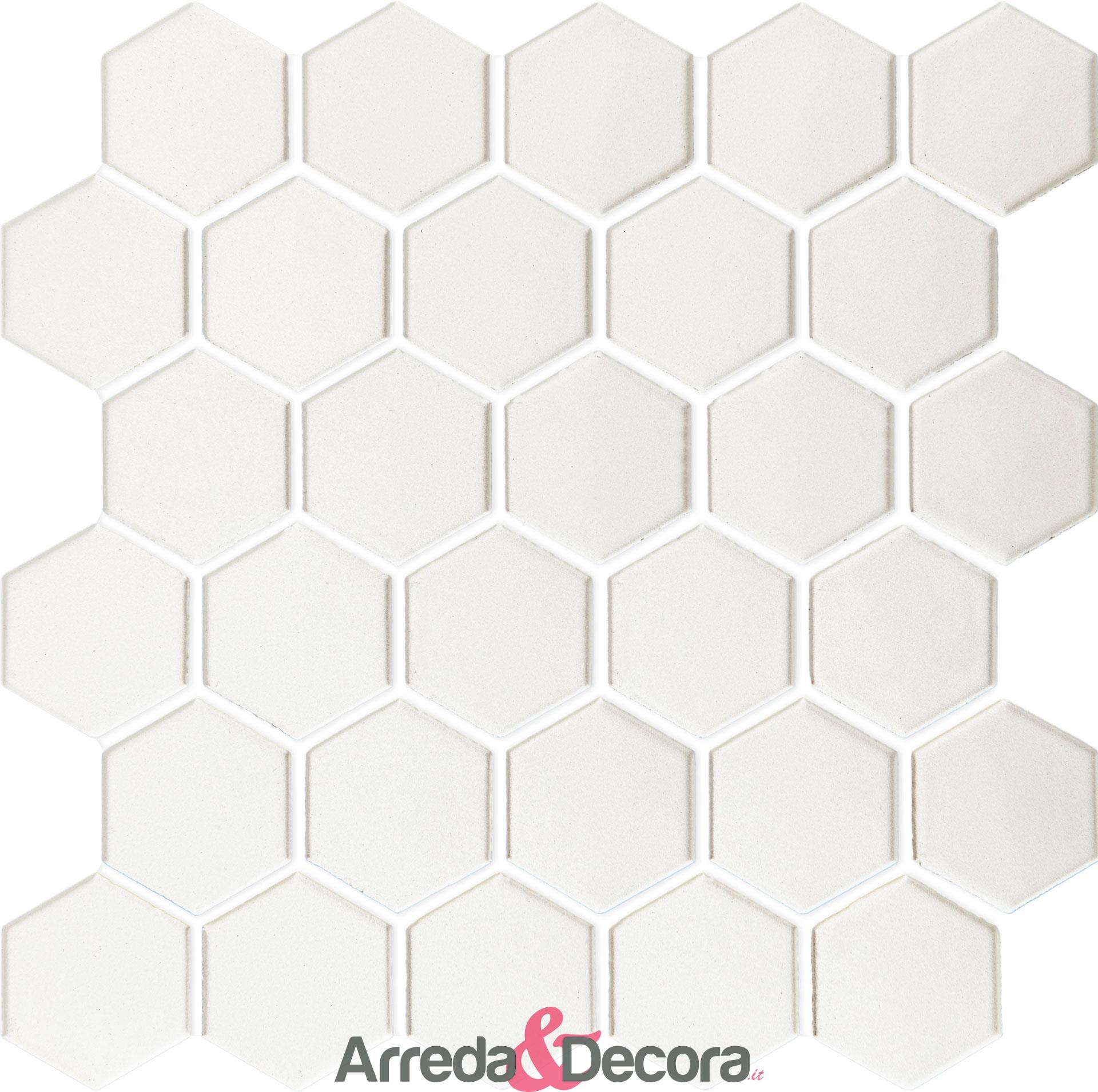 mosaico-esagonale-in-porcellana-bianco