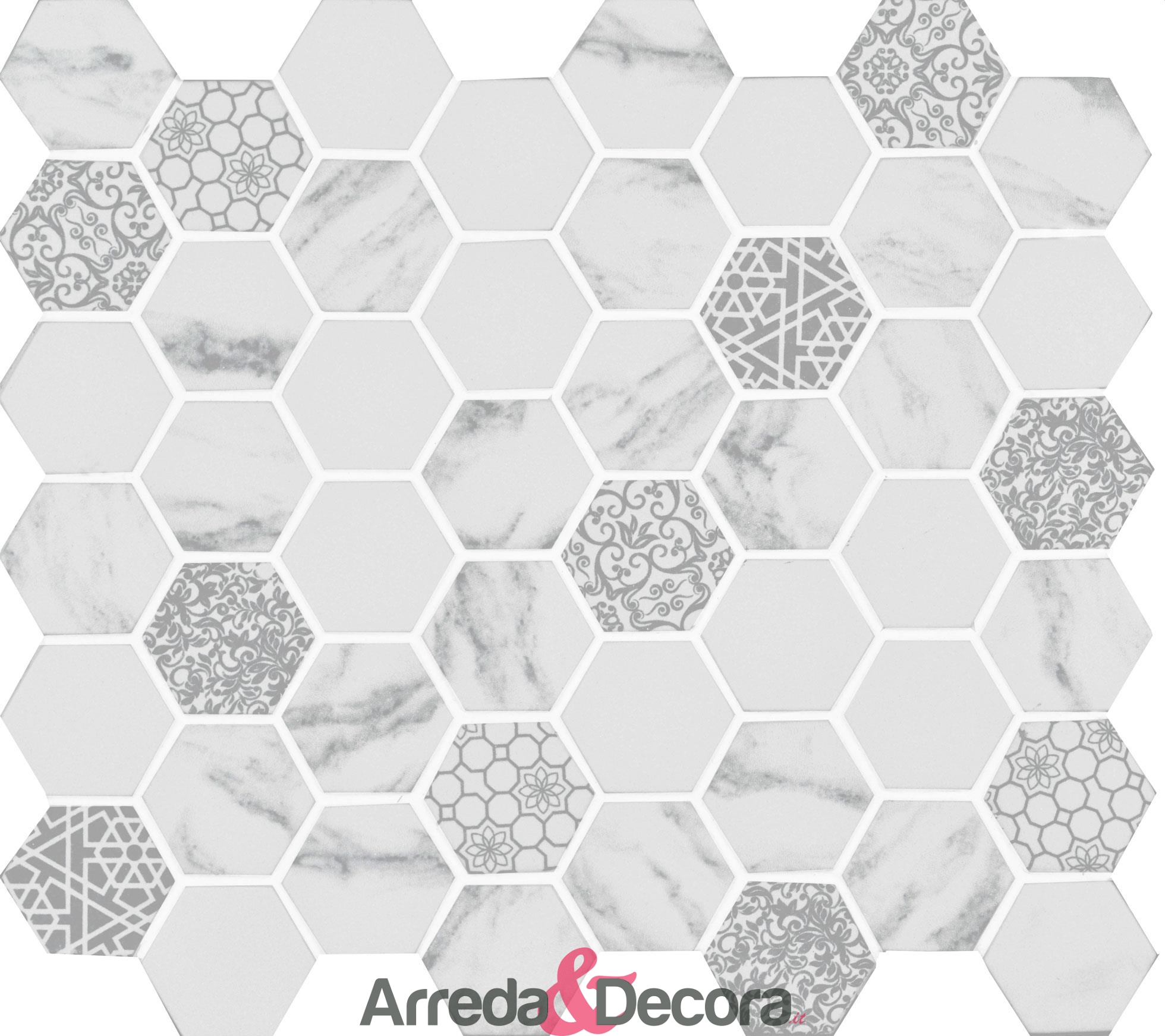 mosaico-esagonale-in-vetro-riciclato