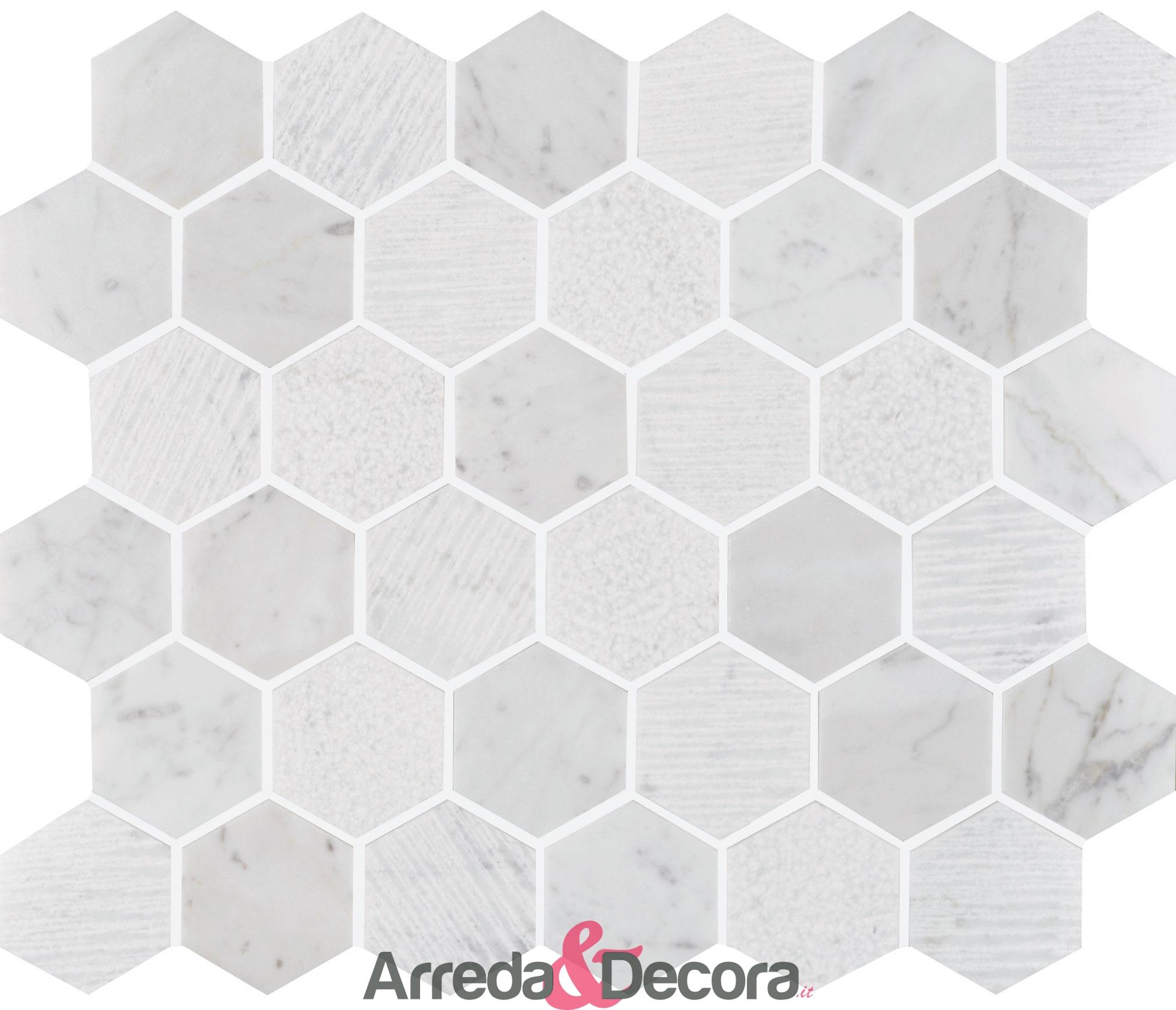 mosaico-marmo-asagonale-bianco