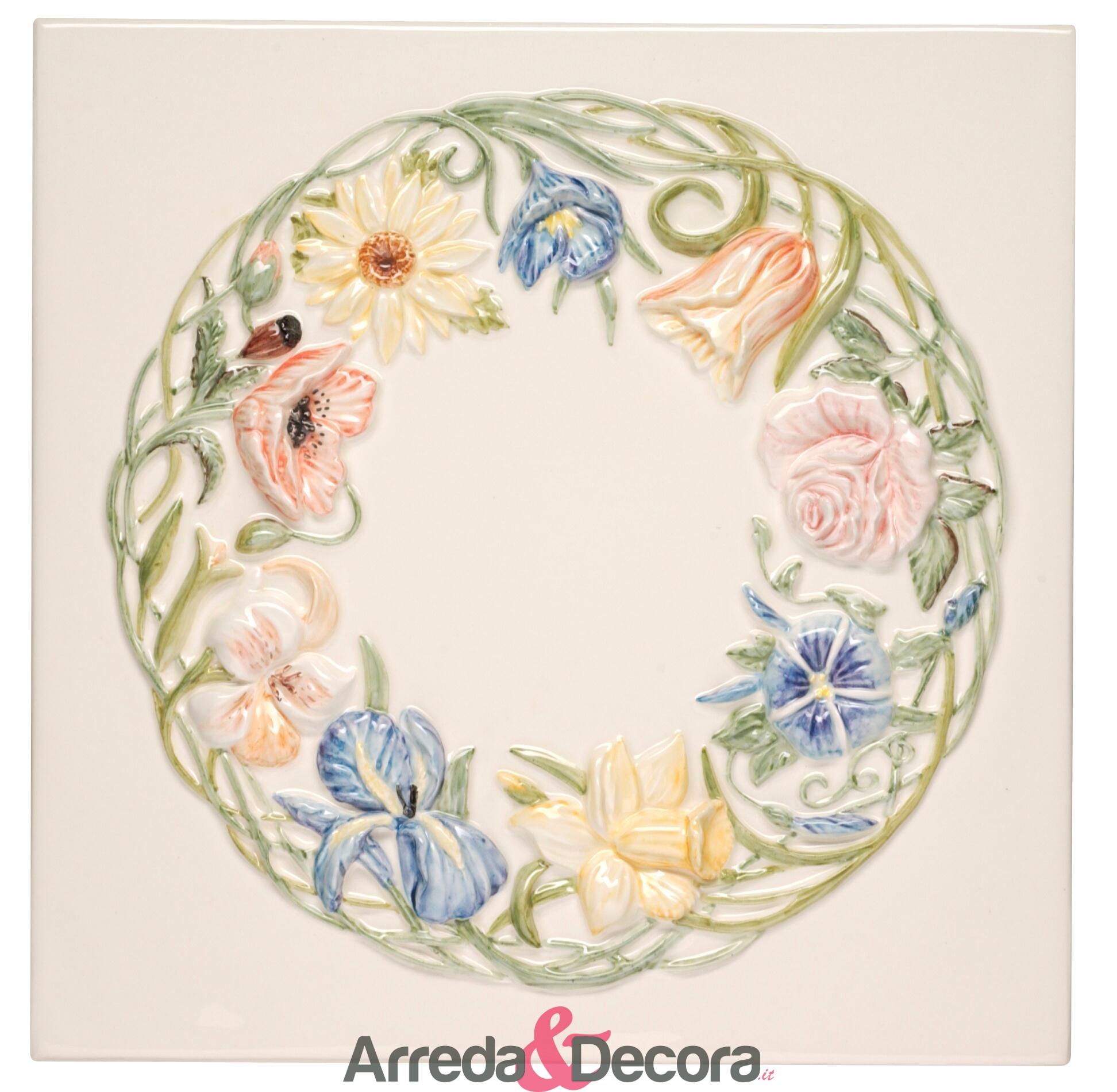 decoro-30x30-anello-di-fiori